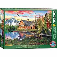 The Art of Dominic Davison Puzzles - The Fishing Cabin by Dominic Davison 1000 Pc