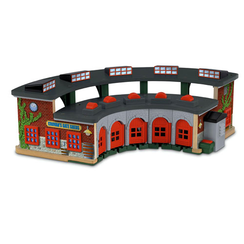 thomas and friends wooden railway roundhouse 2